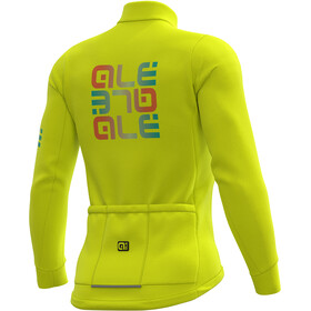 Alé Cycling Solid Mirror Winter Trikot Herren fluo yellow
